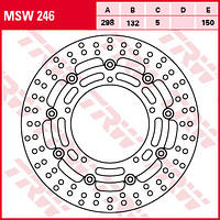 Тормозной диск TRW / Lucas MSW246