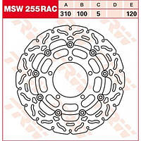 Тормозной диск TRW / Lucas MSW255RAC