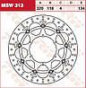 Тормозной диск TRW / Lucas MSW313