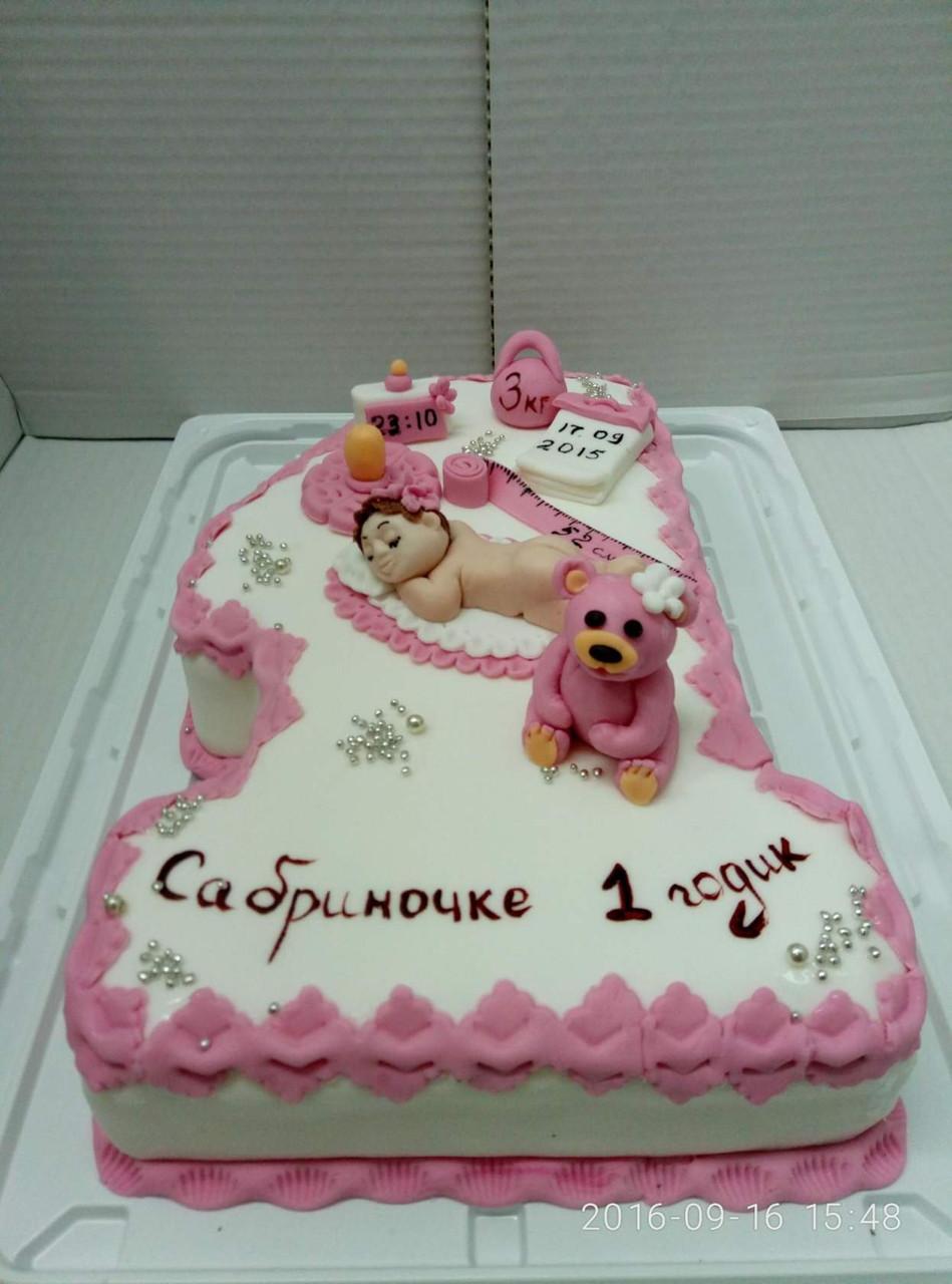 Дитячий торт на замовлення Первій рік