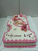Дитячий торт на замовлення Первій рік, фото 1