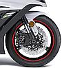 Наклейка на обод колеса Print Riflettenti красный