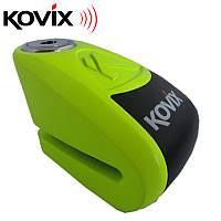 Замок на томозной диск Kovix KAL6 FG Fluorescent Green