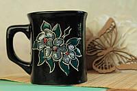 Чашка квадратная Цветок глянцевая, керамика
