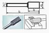 Борфреза цилиндрическая 25х4мм (10х4мм), тип A (тип насечки ― 3)