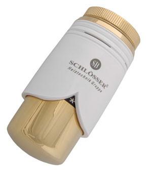 Термостатическая головка  BRILLANT SH  белая-золото
