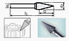 Борфреза коническая 100х8мм (14х4мм), тип M (тип насечки ― 3)