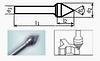 Борфреза коническая 55х9мм (6.9х8мм), тип J (тип насечки ― 3)