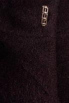 Женское шерстяное зимнее пальто с хомутом р. (S-L) арт. Фортуна лайт шерсть хомут зима 8238, фото 3