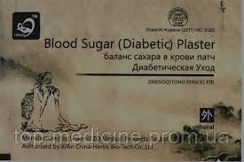 Диабетический пластырь Blood Sugar- уменьшение  уровня сахара в крови