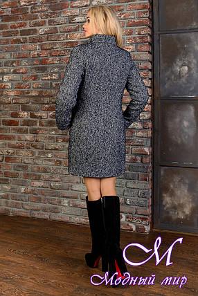 Женское зимнее пальто меланж р. (S-L) арт. Фортуна лайт шерсть хомут зима 8379, фото 2