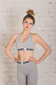 Bono Топ + Лосины женский серый 950119
