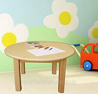 Детский столик круглый деревянный