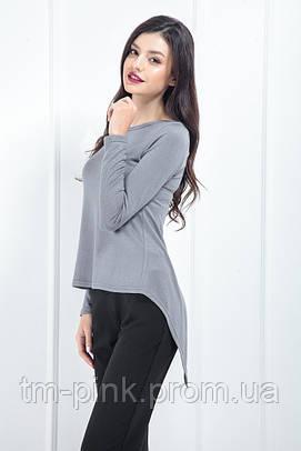 Жіноча кофта ззаду зав'язка сірий