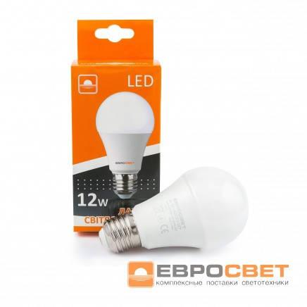 Лампа светодиодная Евросвет А-12-3000-27 12вт 170-240V