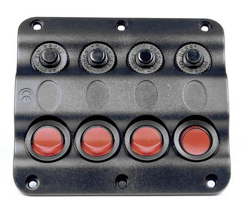 Панель на 4 переключателя судовой, фото 2