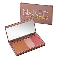 Urban Decay Naked Flushed палитра 3 в 1. Румяна, хайлайтер, бронзер.