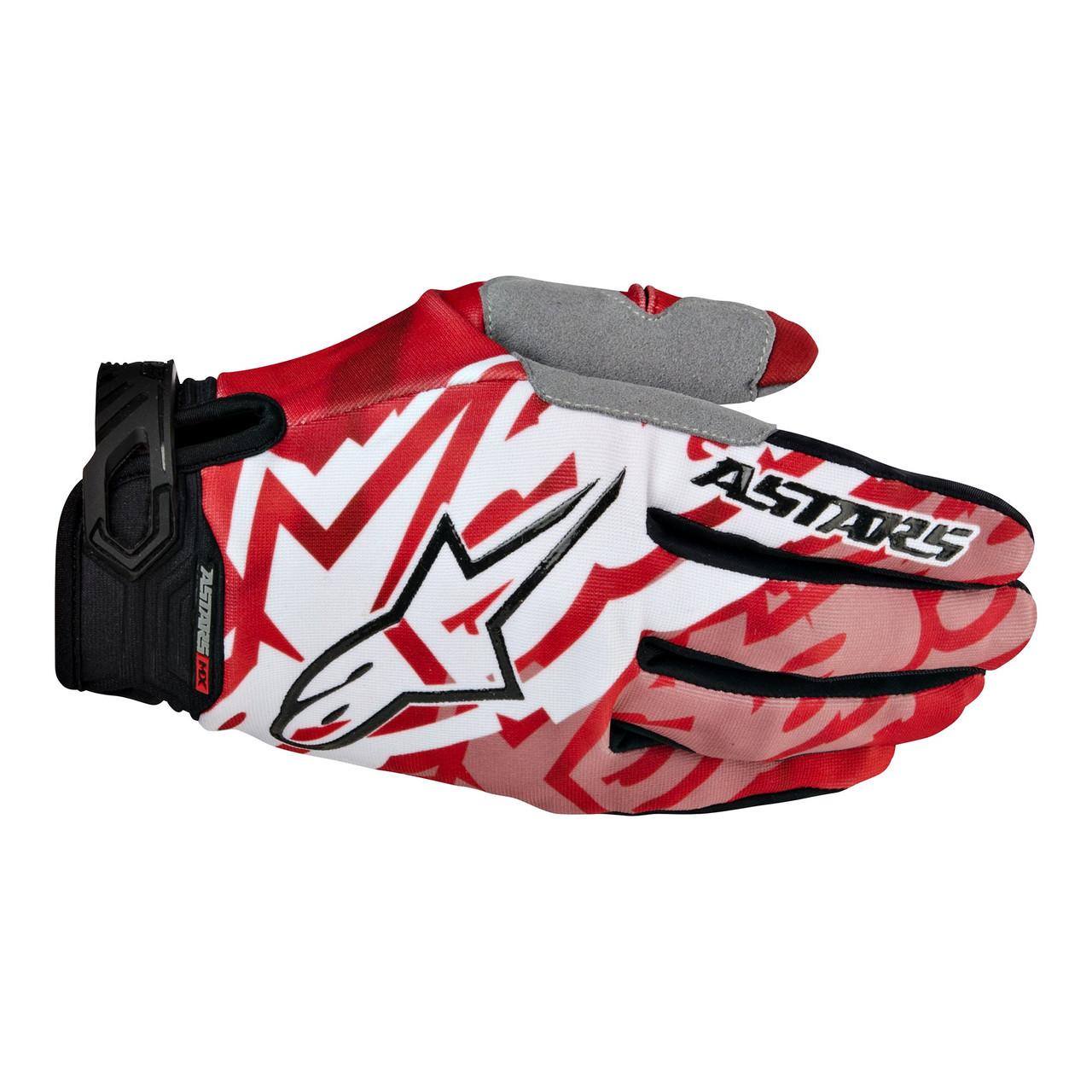 Мотоперчатки Alpinestars RACER красный черный M