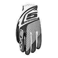 Мотоперчатки FIVE MX Practice текстиль белый черный 2XL