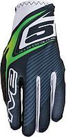 Мотоперчатки FIVE MX Practice текстиль зеленый 2XL