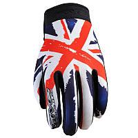 Мотоперчатки FIVE Planet Patriot England текстиль XL