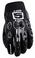 Мотоперчатки FIVE Stunt Vintage кожа/текстиль черный S