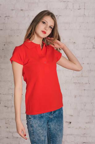 Bono Женская футболка Поло красная 400080