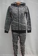 Женский зимний теплый спортивный костюм nike серый