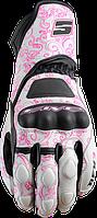 Мотоперчатки женские FIVE RFX-3 кожа белый розовый M
