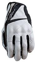 Мотоперчатки женские FIVE Sport City кожа белый черный S
