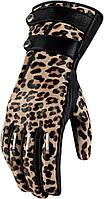 Мотоперчатки женские ICON Catwalk Leopard S