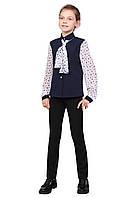 """Блузка детская для девочек креп-шифон М-1070 рост 122-170 тм """"Попелюшка"""", фото 1"""