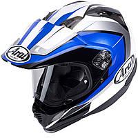 Мотошлем Arai Tour-X4 Flare черный белый синий XL