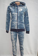 Женский зимний теплый спортивный костюм nike синий