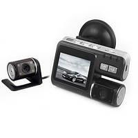 Видеорегистратор i1000 f70 авто регистратор c выносной камерой