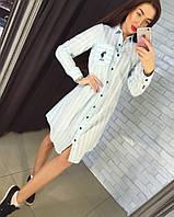 """Модное, летнее платье - рубашка """"POLO"""" ткань - х/б"""