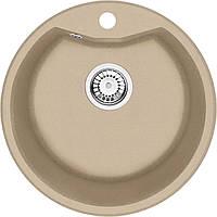 Мойка 1-камерная Deante FIESTA SOLIS, круглая, песочный гранит, 480х180 мм