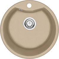 Мийка 1-камерна Deante FIESTA SOLIS, кругла, пісочний граніт, 480х180 мм