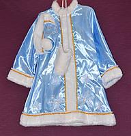 Новогодний костюм для девочки Снегурочка 6-8 лет