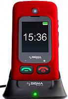 Бабушкофон раскладушка Sigma Mobile Comfort 50 Shell Duo Красный