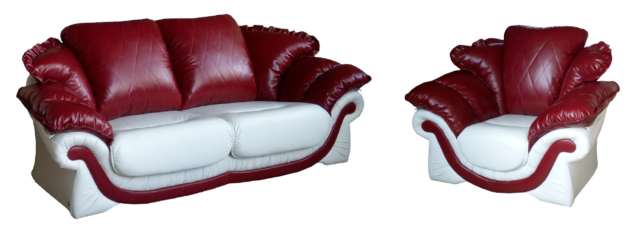 """Кожаный комплект мягкой мебели """"Loretta-2"""""""