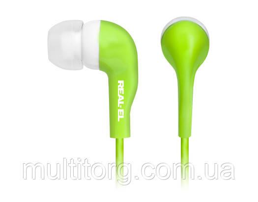 Наушники REAL-EL Z-1007 зеленые