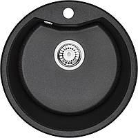 Мойка 1-камерная Deante FIESTA SOLIS, круглая, графитовый гранит, 480х180 мм, фото 1