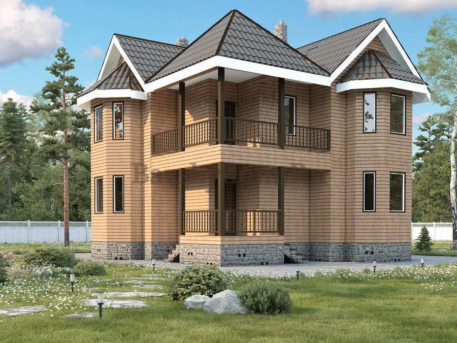 Каркасно щитовой дом общей площадью 182 м2, фото 1