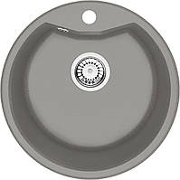 Мийка 1-камерна Deante FIESTA SOLIS, кругла, сірий металік, 480х180 мм