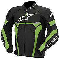 Мотокуртка ALPINESTARS Celer кожа черный зеленый белый 50