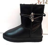 Угги женские Ugg Original кожаные черные натуральные Ug0029
