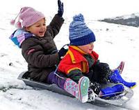 Активный отдых детишек зимой - это тепло, безопасно и забавно!