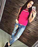Крутые джинсы - рванки, укороченные, длина 89см