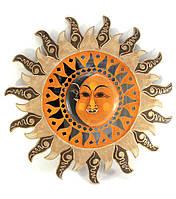 Настенное зеркало мозаичное Солнце и луна